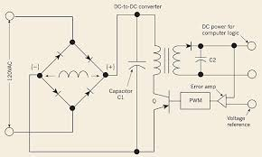 when does poor power quality cause electronics failures shown is a typical switch mode power supply wiring schematic