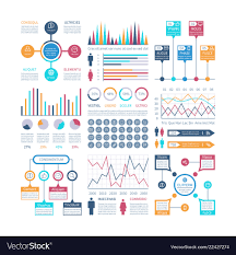 Infographics Template Financial Charts Trends