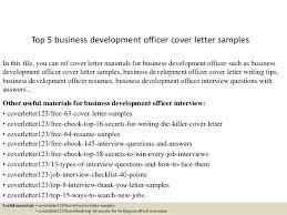 Cover Letter Business Top 5 Business Development Officer Cover Letter Samples