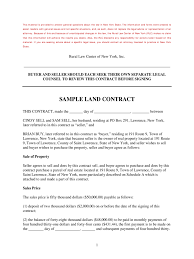 Land Contract Templates Land Contract Form 24 Free Templates in PDF Word Excel Download 1