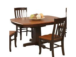 pedestal dining room table. Winners Only Santa Fe - Chestnut/EspressoSingle Pedestal Dining Table Room R