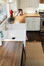 remodelaholic how to create faux reclaimed wood countertops best diy wood kitchen countertops