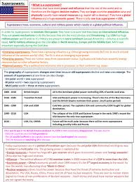 super power geography unit edexcel a detailed revison preview of page 1