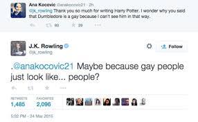 Dumbledore gay jk rowling