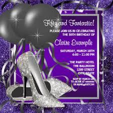 Sample Of 50th Birthday Party Program Elegant 50th Birthday Invitations Zazzle