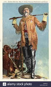 Buffalo Bill Oberst William F. Cody mit Sattel Stockfotografie - Alamy