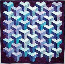 BABY QUILT TUMBLING BLOCK PATTERN | Sewing Patterns for Baby & Tumbling blocks quilts on Pinterest | 124 Pins Adamdwight.com