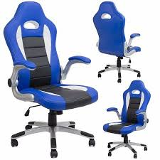 Xtremepowerus Executive High Back <b>Office Chair</b> Racing Style <b>PU</b> ...