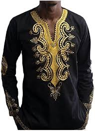 HEFASDM Mens Floral Print African Oversize <b>Ethnic Style</b> Tees Shirt ...
