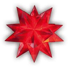Folia Bascetta Stern Transparentpapier 30x30cm Rot 32 Teilig 1 Set