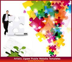 Artistic Jigsaw Puzzle Website Templates Entheos