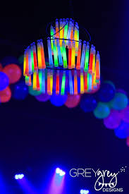 glow in the dark chandelier for neon sweet 16 party see more glow in the
