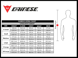 Dainese Trail Skins Knee Guard Size Chart 39 Surprising Dainese Body Armour Size Chart