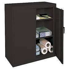 black storage cabinet. Realspace 42 Steel Storage Cabinet With Black A