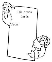 christmas card color pages christmas card coloring page blank with greeting pages bageriet info