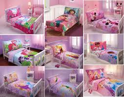 adorable new girls 4pc toddler bedding set multiple disney characters of toddler comforter set