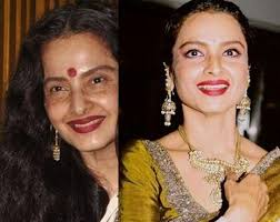 rekha without makeup 14 bollywood actress without makeup that you