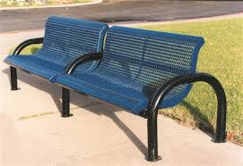 bench with arms. 4\u0027 FT Modern Park Bench With Contoured Back And Arms O