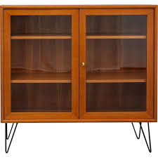 vintage bookcase in teak with glass