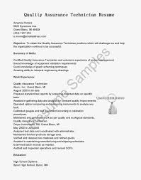 Gallery Of Resume Samples Quality Assurance Technician Resume Sample