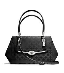coach black leather satchel-madison small madeline eastwest satchel in op  art sateen fabric