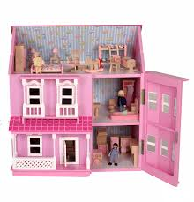 wooden barbie doll house furniture. Pink Theme Ebay Dollhouse With Open Roof And Furniture For Kids Toys Ideas Wooden Barbie Doll House O