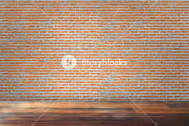empty living room red brick wall old wooden floor empty living room interior empty living room ideas