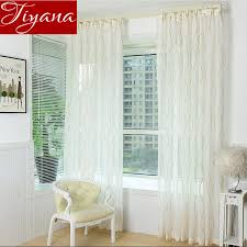 jacquard striped curtains voile european window treatment design living room kitchen curtains tulle sheer fabrics t 377
