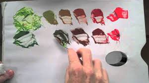 Colour Wheel Red Green Complementary Colour Mixing Basics Youtube Mixing Colors Green And Red