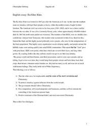 engelsk essay ku klux klan skolehjælpen dk engelsk essay ku klux klan