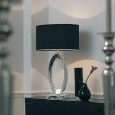 lamp shades table lamps modern. Exellent Lamps Fabulous Black Table Lamp Envisage 1 Light Modern Silk  Shade Grey Inner  To Lamp Shades Table Lamps Modern P