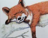 Fantastic <b>Mr Fox</b> by cardsbyjane on Etsy <b>Watercolor</b> Red, <b>Watercolor</b> ...