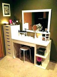 vanity mirror sets with lights makeup table set desk and ikea li