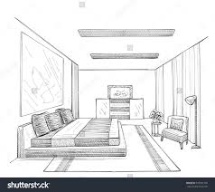 Brilliant Interior Design Sketches Living Room