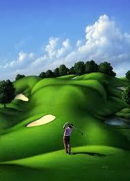 amazing ilrations by jerry lofaro golf paintingframed