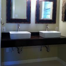diy double sink vanity. diy floating vanity with vessel sinks home ideas pinterest double sink