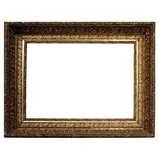 antique ornate first finish gold gilt gesso on wood frame late 19th century for