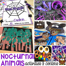 Animal Activity Chart Nocturnal Animals Activities And Centers For Little Learners