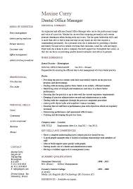Job Duties Of A Dentist Dental Office Manager Resume Dental ...