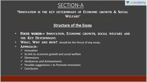 essay section a innovation key to socio economic welfare and  essay section a innovation key to socio economic welfare and development solutions of upsc cse mains 2016 papers in depth analysis discussion