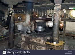 Old Kitchen Old Kitchen In The Buddhist Monastery Of Rizong India Jammu Und