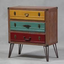 Creative Idea:Tall Chest Brown Vintage Suitcase Drawer Mid Century Vintage Suitcase  Drawer Ideas