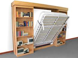 murphy bed with shelves. Interesting Shelves SLIDING LIBRARY BED SYSTEM On Murphy Bed With Shelves