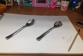 Sketching 3d 3d Sketch Of A Spoon Penpencilandstories By Mita Jain