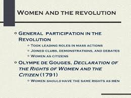 french revolution women and the revolutiono general participation in the revolution o took leading roles