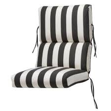 home decorators collection sunbrella maxim classic outdoor dining chair cushion 1573320260 the home depot black patio chair cushions