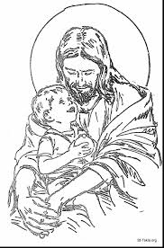 2019 Thanksgiving Jesus Coloring Pages Printable Coloring Page For