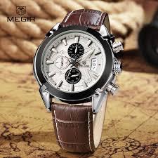 megir watch men military quartz watch chronograph mens watches top megir watch men military quartz watch chronograph mens watches top brand luxury leather sports wristwatch 2020 relogio masculino in quartz watches from