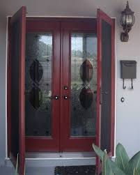 double front doors with screens attractive patio side windows glass above in 4