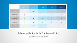 For Powerpoint Tables With Symbols For Powerpoint